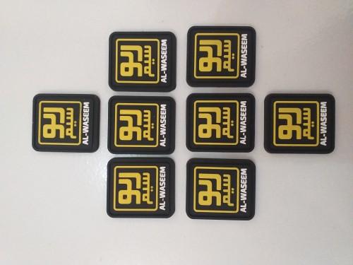 Gantungan kunci karet Label karet