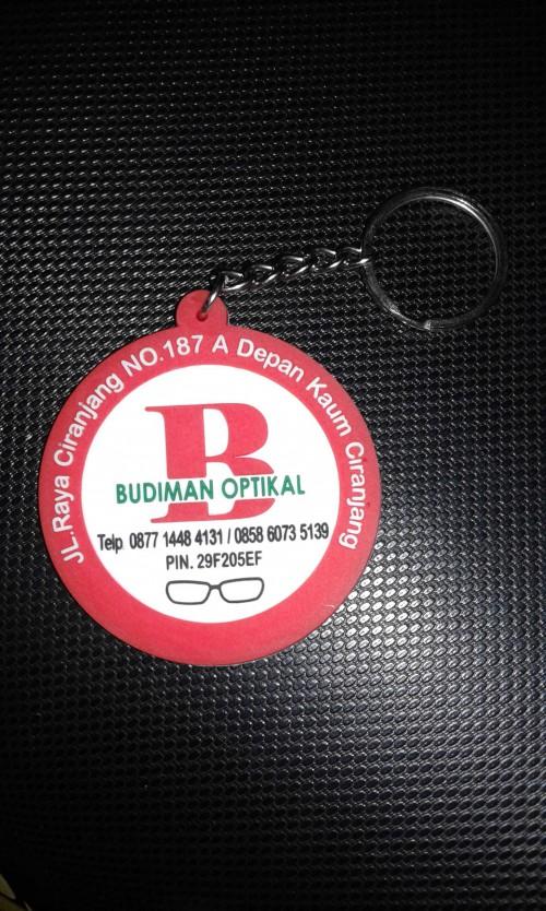 Gantungan kunci karet Budiman Optikal